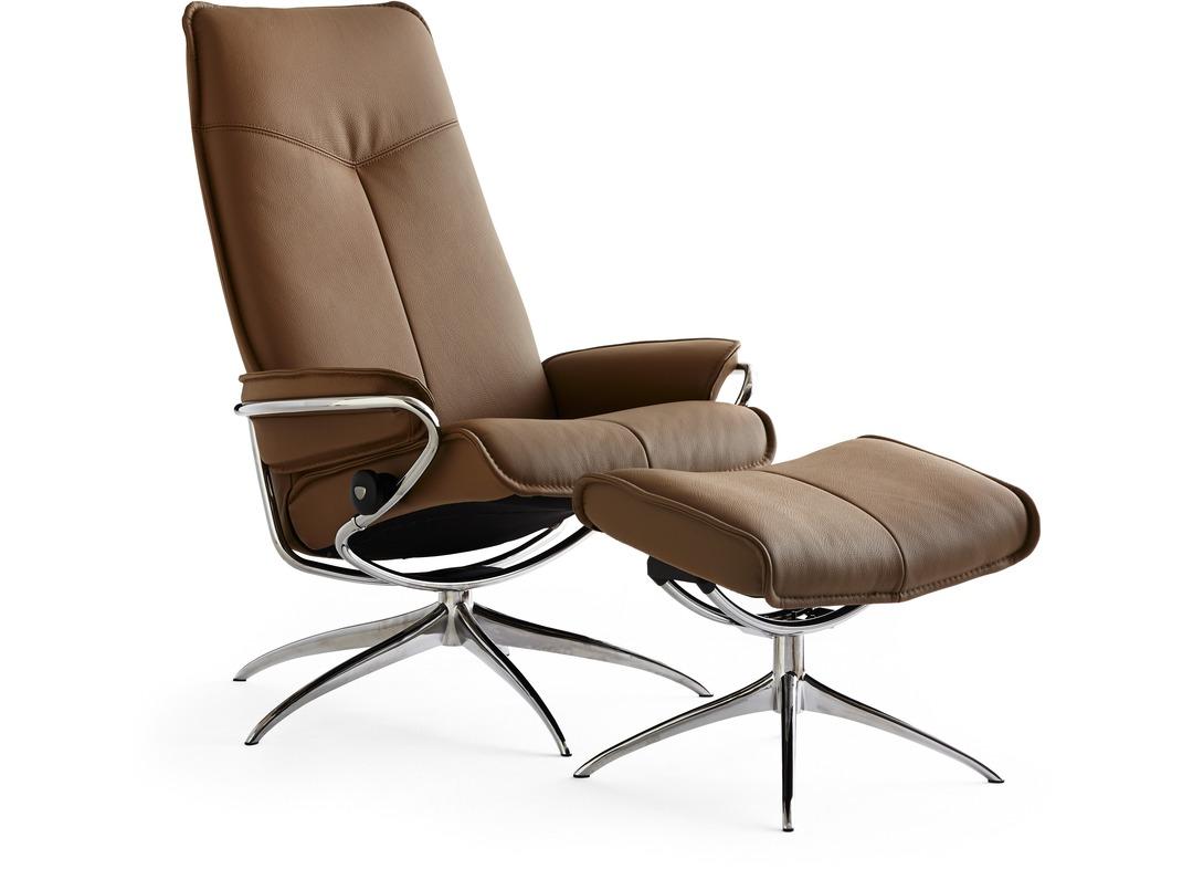 stressless city leather recliner high back star base. Black Bedroom Furniture Sets. Home Design Ideas