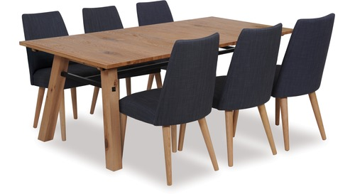 Stockholm 2100 Extension Dining Table & Norway Chairs x 6