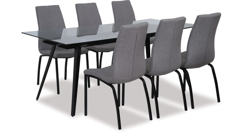 Monti Dining Table & Asama Chairs x 6