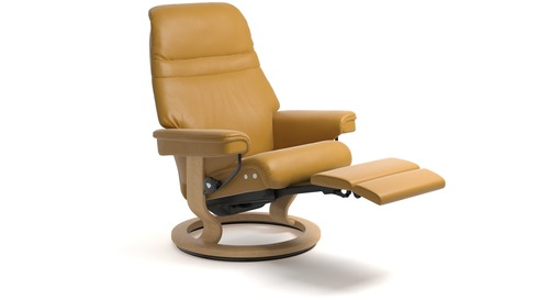 Stressless® Sunrise Leather Recliner - LegComfort