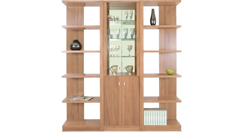 Modena Slim China Cabinet & 2100 Modular Bookcases
