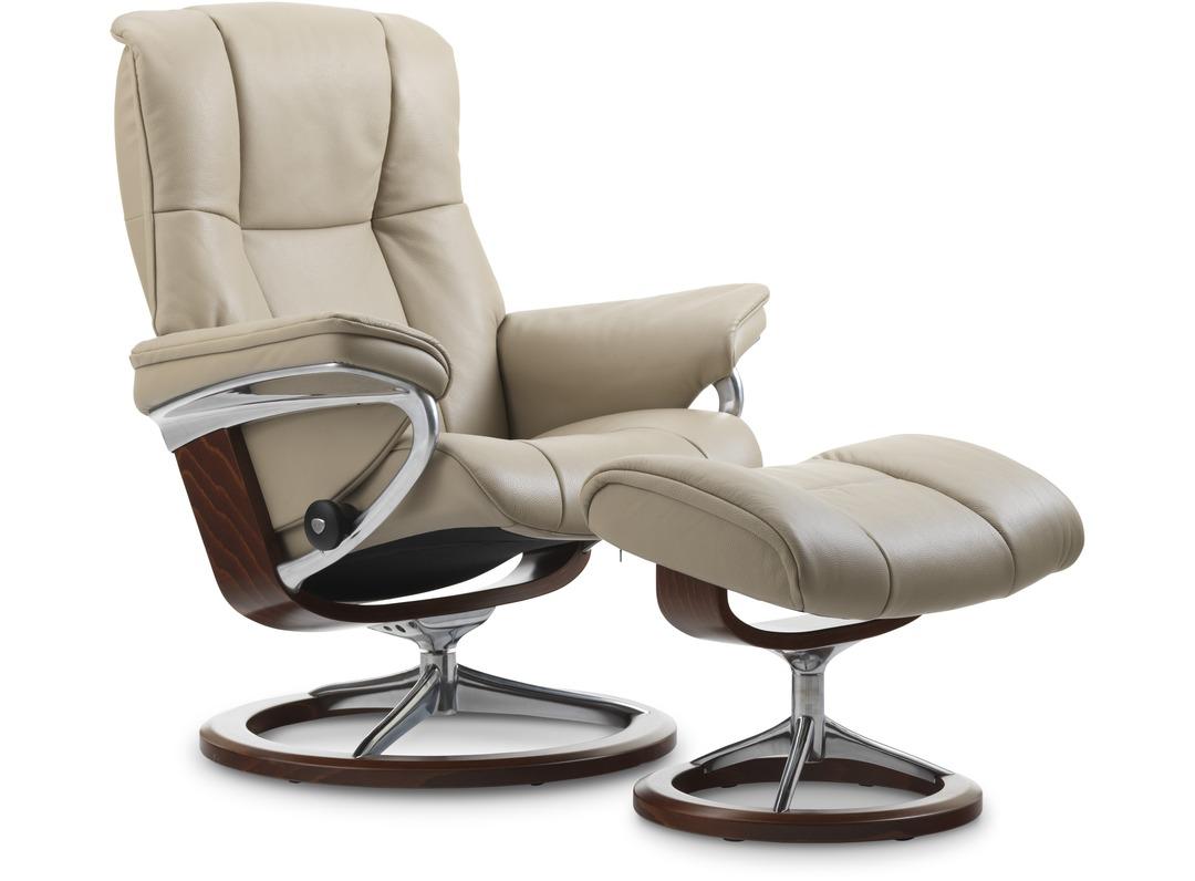 8a1d44193b895 Stressless® Mayfair Leather Recliner - Signature Base