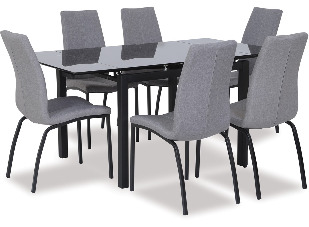 Liffey Extension Dining Table Asama Chairs X 6