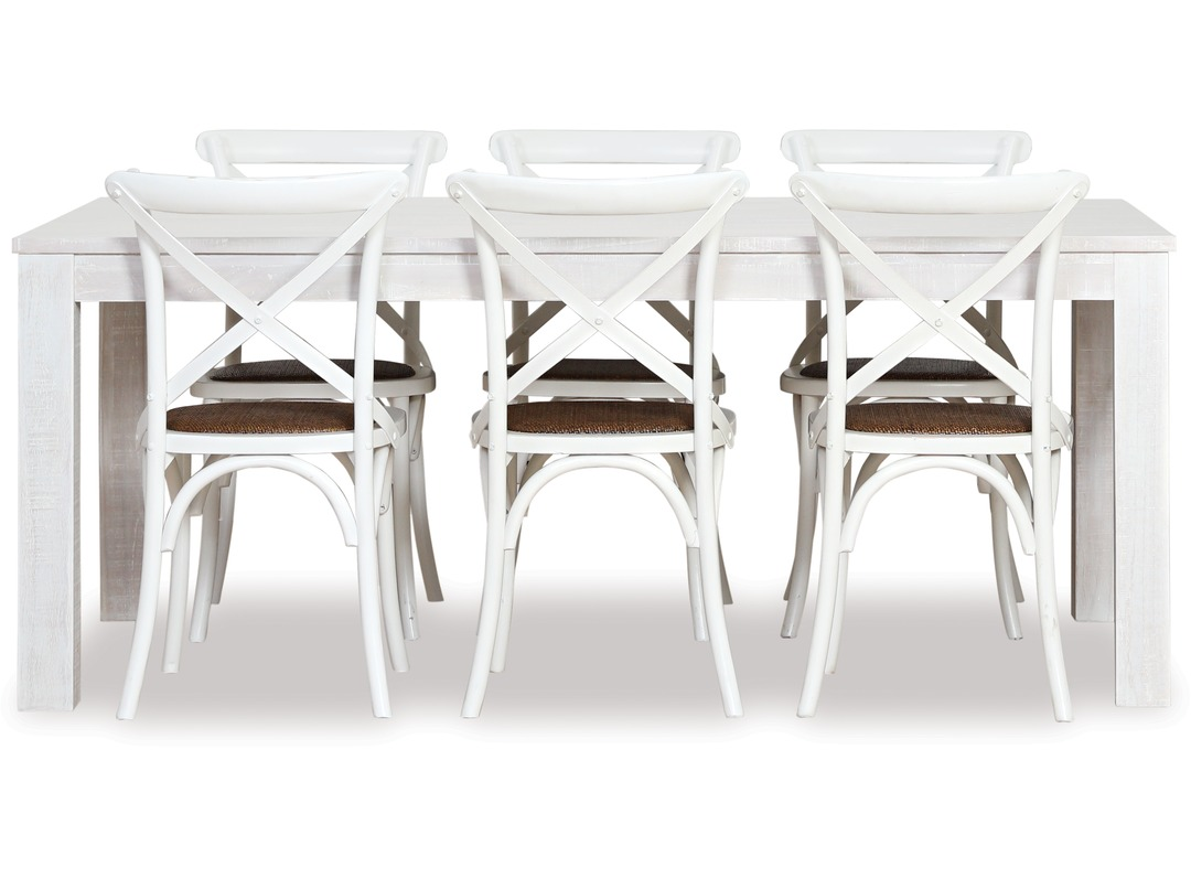 West Coast Dining Table Cross Chairs X 6