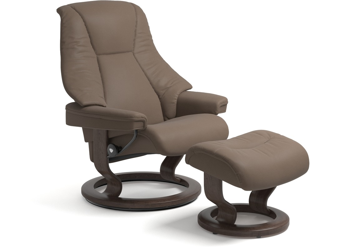 Stressless live leather recliner classic base