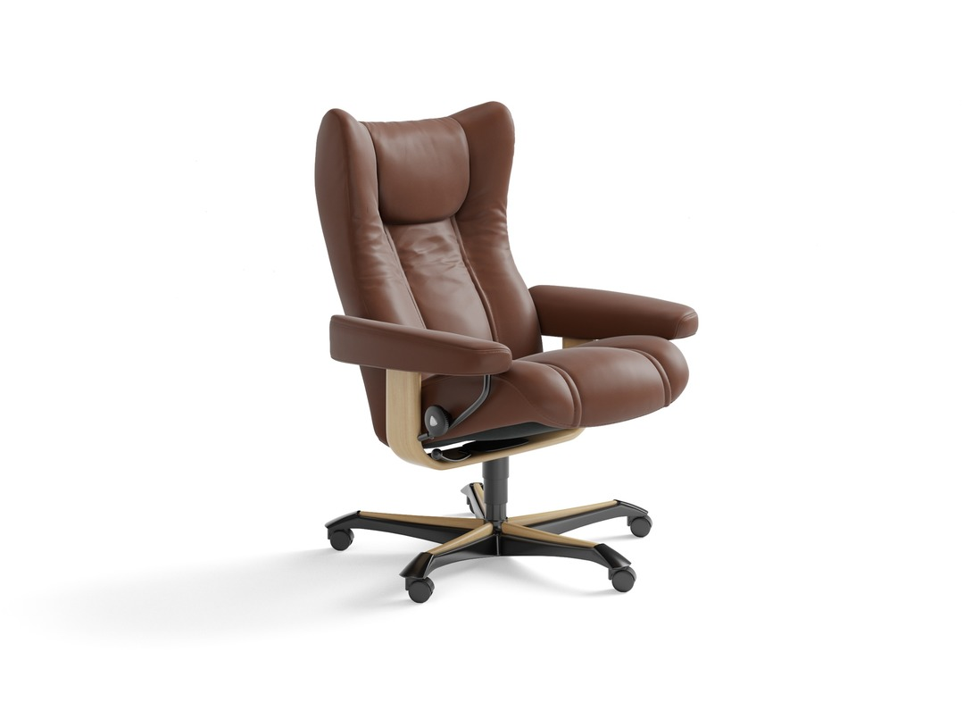 Stressless Wing Leather Home Office Chair