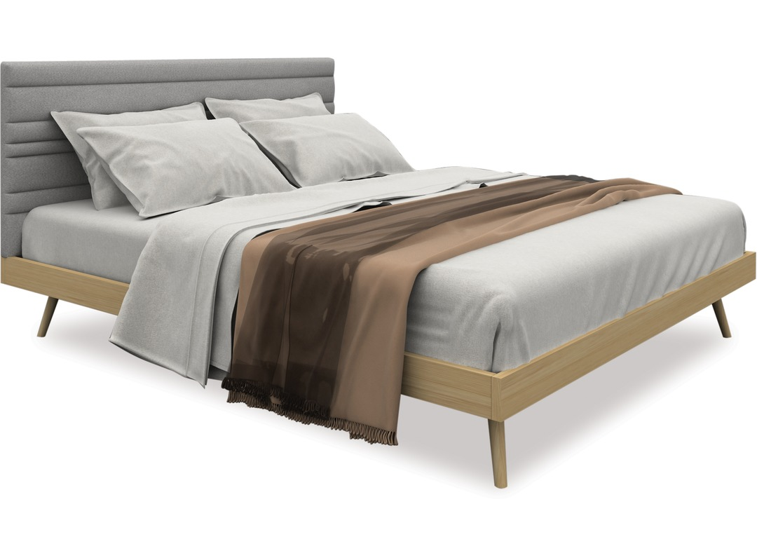 Image of: Sail Slat Bed Frame Headboard Queen