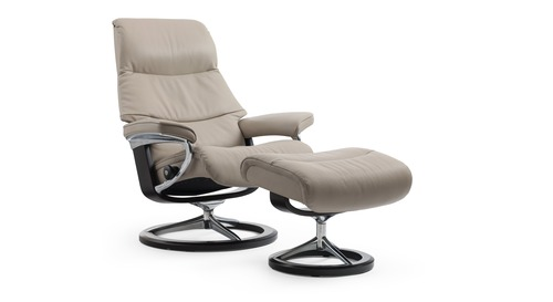 Stressless® View Leather Recliner - Signature Base