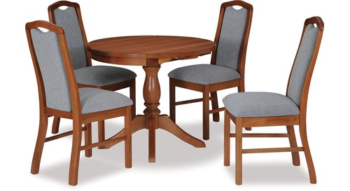 Belmont Double Drop-Leaf Dining Table & Madeira Chairs