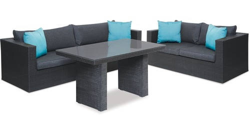 Mode 3-pce Low Dining Outdoor Lounge Suite