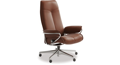 Stressless® City Leather Home Office Chair - High Back