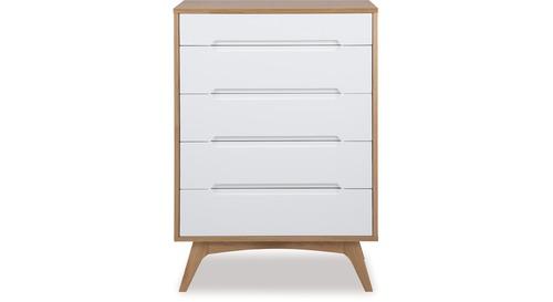 Copenhagen Tallboy, White Lacquer Bedroom Furniture Nz
