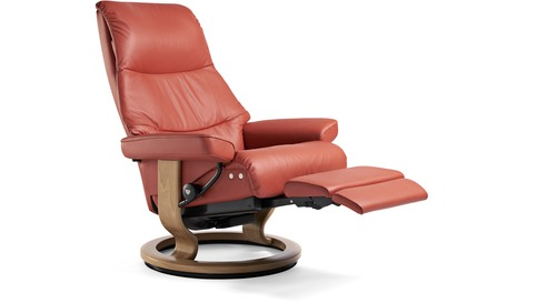 Stressless® View Leather Recliner - LegComfort