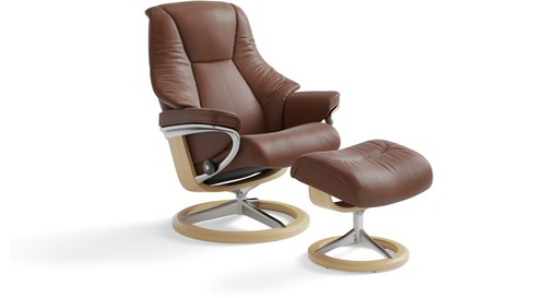 Stressless® Live Leather Recliner - Signature Base