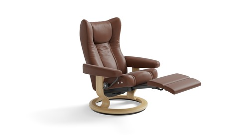 Stressless® Wing Leather Recliner - LegComfort