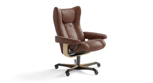 Stressless® Wing Leather Home Office Chair