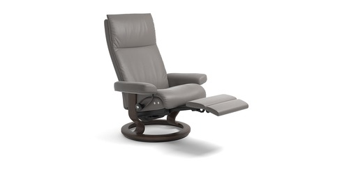 New Stressless® Aura Leather Recliner   LegComfort