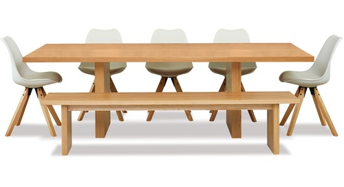 Yoko 7-Pce Dining Suite - Bench & 5 x Dima Chairs