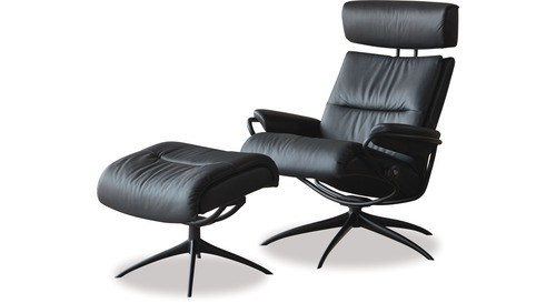 Stressless® Tokyo Leather Recliner with Adjustable Headrest - Star Base