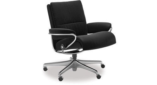 Stressless® Tokyo Leather Home Office Chair - Low Back
