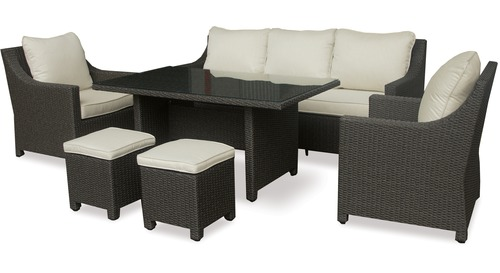Mesa 6-pce Low Dining Outdoor Lounge Suite