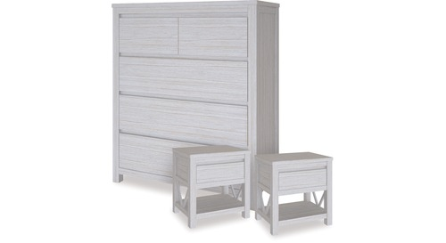 Coastal Tallboy & 1 Drawer Bedsides x 2