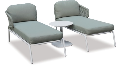 Crown Outdoor Twin Sunloungers & Side Table