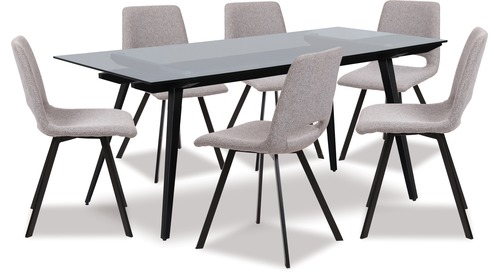 Monti Dining Table & Pepper Chairs x 6