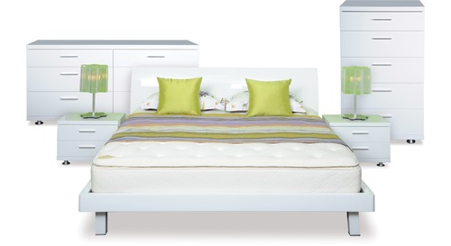 Arctic 5 Pce Bedroo Suite Danske, White Gloss Bedroom Furniture Nz