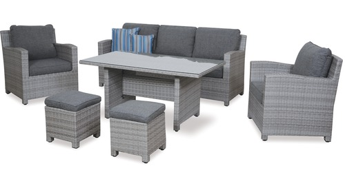Baja 6-pce Low Dining Outdoor Setting