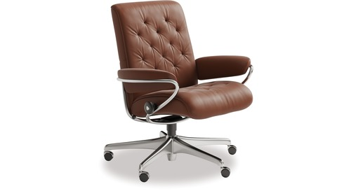 Stressless® Metro Leather Home Office Chair - Low Back