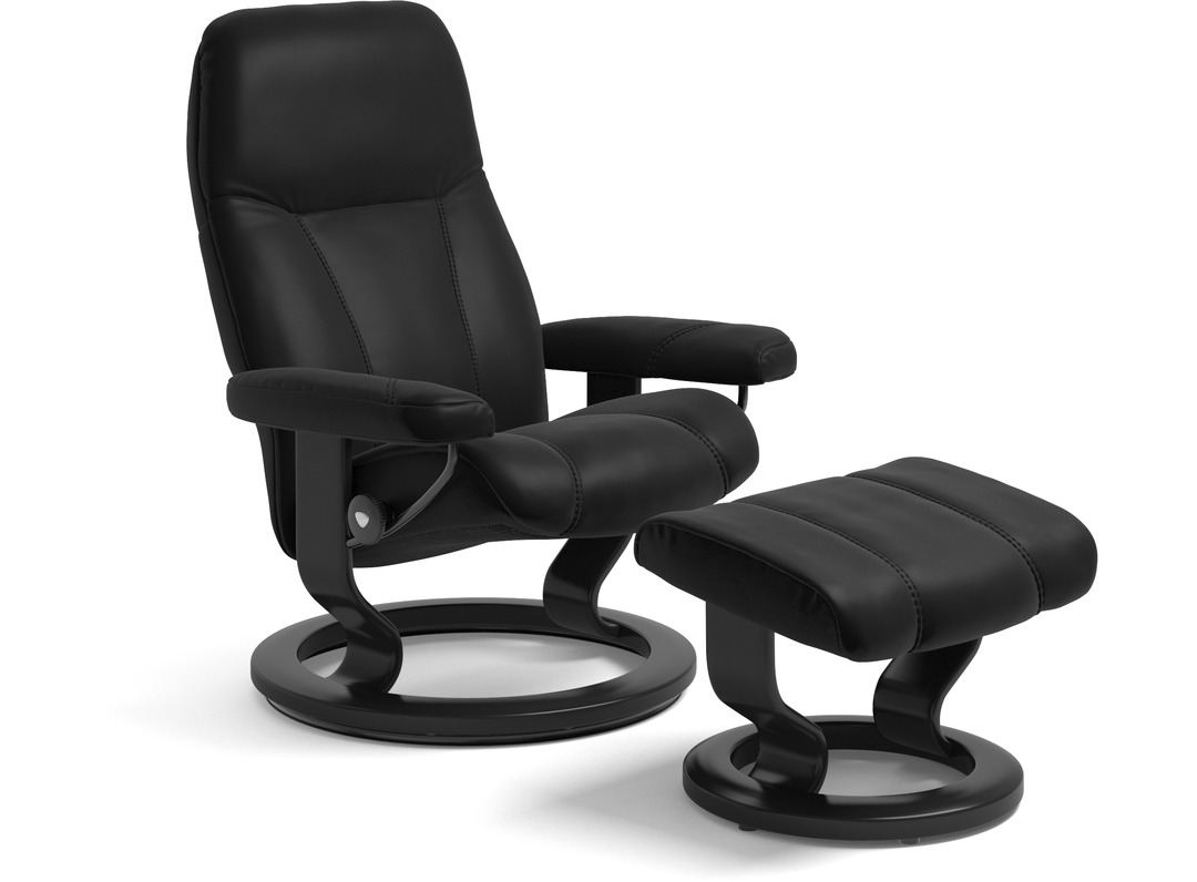 Stressless 174 Consul Leather Recliner Classic Base 3