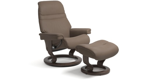 Stressless® Sunrise Leather Recliner - Classic Base - 3 Sizes Available