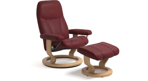 stressless consul leather recliner classic base 3 sizes available