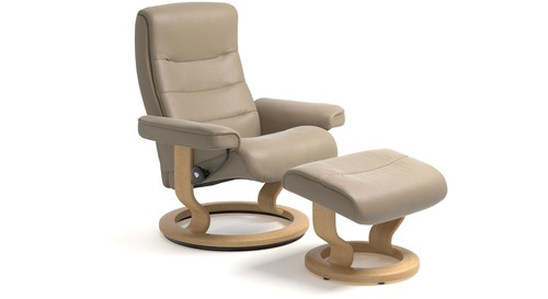 Stressless® Nordic Leather Recliner - Classic Base - 3 Sizes Available